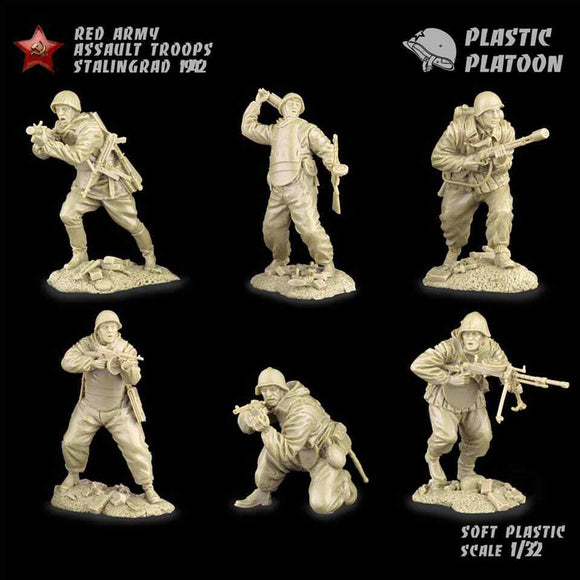 Plastic Platoon WWII Russian Red Army Infantry Defense of Leningrad 1941
