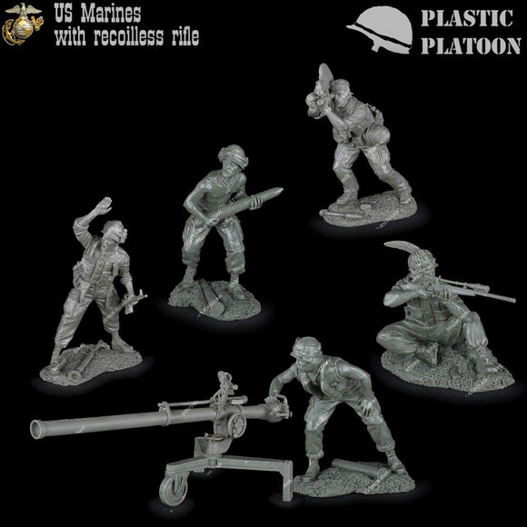 Plastic Platoon Vietnam War US Marines with M40 Recoilless Rifle and Crew