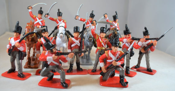 Sunjade Painted British Infantry Cavalry
