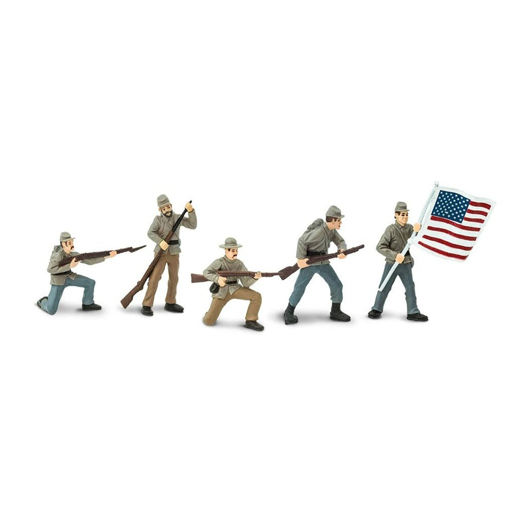 Safari Ltd. Painted Civil War Confederate Infantry Soldiers Designer Toob