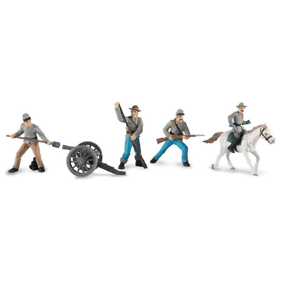 Safari Ltd. Painted Civil War Confederate Infantry Soldiers Designer Toob Set 2