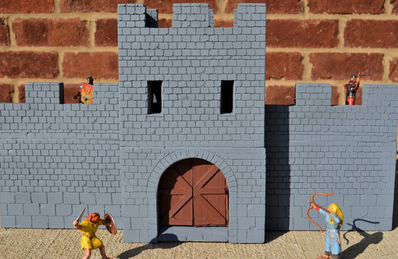 TSSD Roman Castle Main Entry Gate with Double Doors TS146