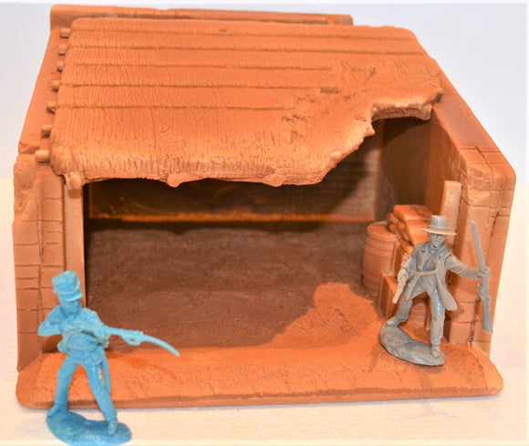 Toy Soldiers of San Diego TSSD Unpainted Alamo Stable with Removable Roof TS5432UP