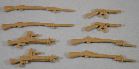 TSSD WWII Japanese and US Weapons Set of 8
