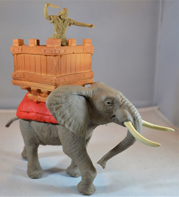 TSSD Painted War Elephant with Howdah TS132