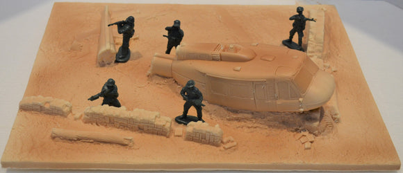 Toy Soldiers of San Diego Unpainted Vietnam Crashed Huey TS213UN