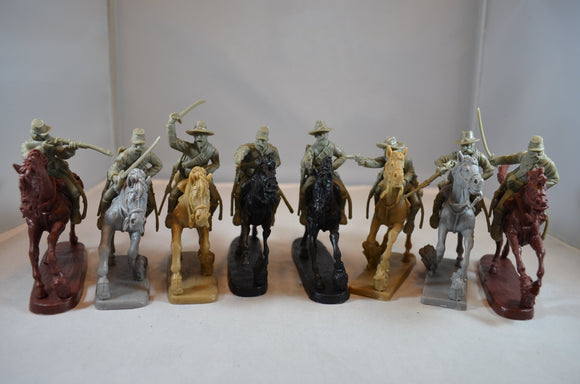 TSSD Confederate Cavalry with Horses Set #10A Gray