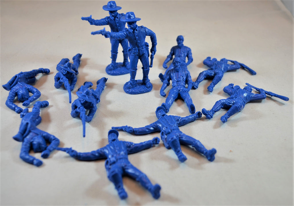TSSD Dismounted Cavalry with Casualties Medium Blue Set #17B