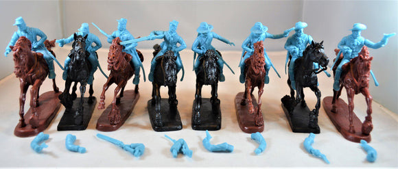 TSSD Cavalry Horse Soldiers Set #24B Light Blue