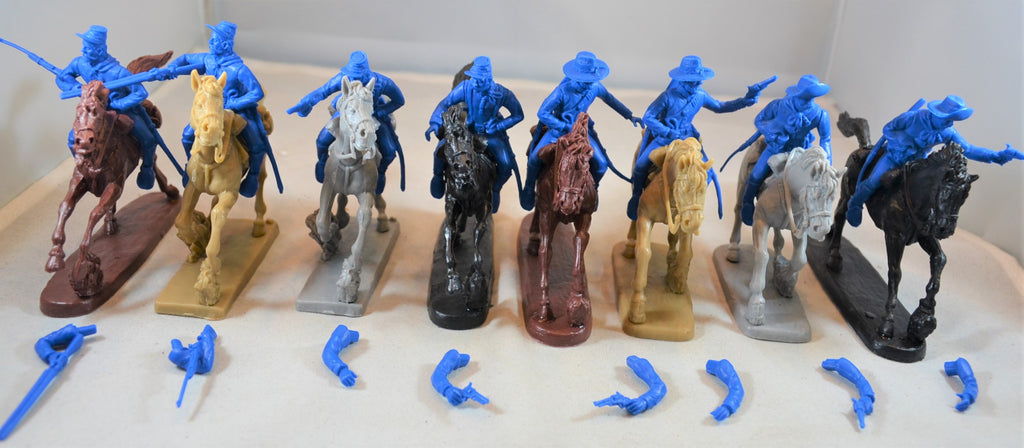 TSSD Cavalry Horse Soldiers Set #24C Medium Blue