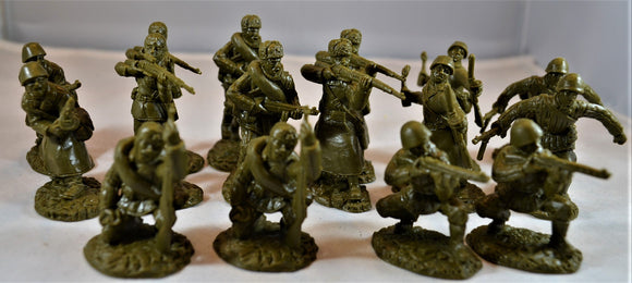 TSSD WWII Russian Infantry Set #5A Dark Green