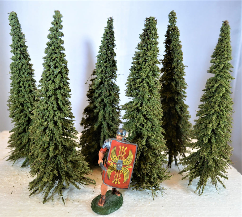 TSSD Painted Pine Trees - Set of 6
