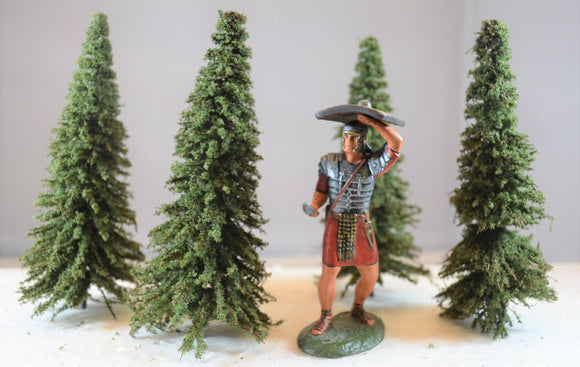TSSD Painted Pine Trees - Set of 4