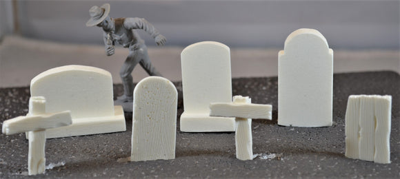 MicShaun's Closet Unpainted Tombstone Grave Markers White