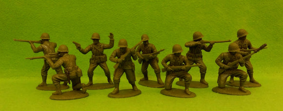 Expeditionary Force World War II US Rifles Defense Section with Netted Helmets