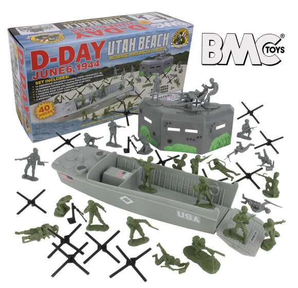 BMC D-Day WWII Utah Beach Playset
