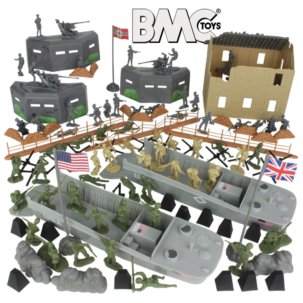 BMC WWII D-Day Normandy Beach Playset