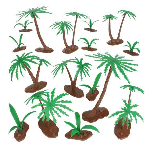 BMC Classic Marx Palm Trees and Ferns (Bushes) - 16 Piece Set