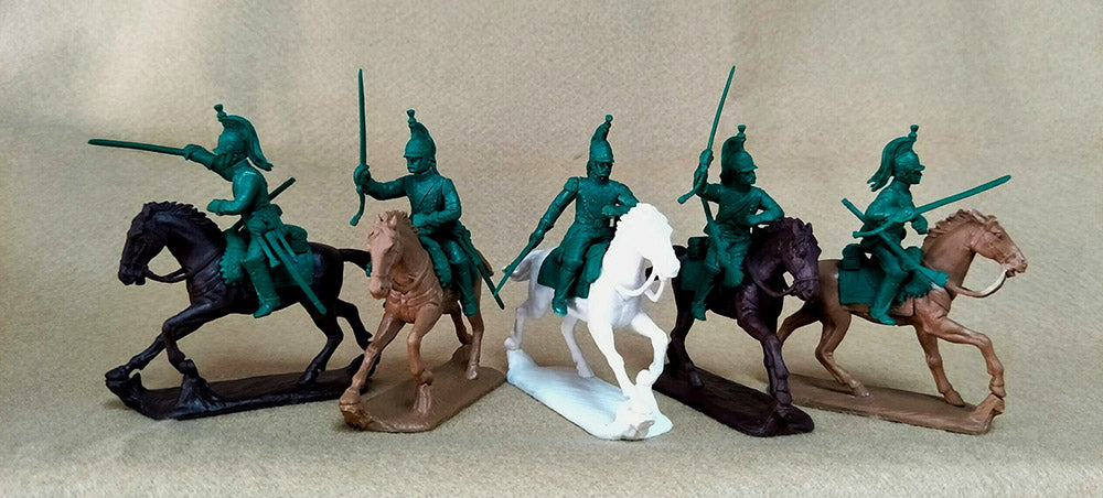 Expeditionary Force Napoleonic Wars French Dragoons Mounted with Officer