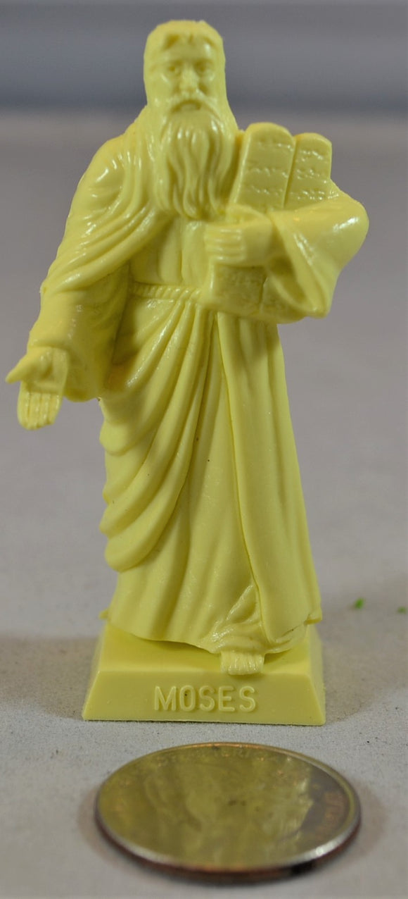 Marx Moses Biblical Religious Figure with Ten Commandments Statue Cream