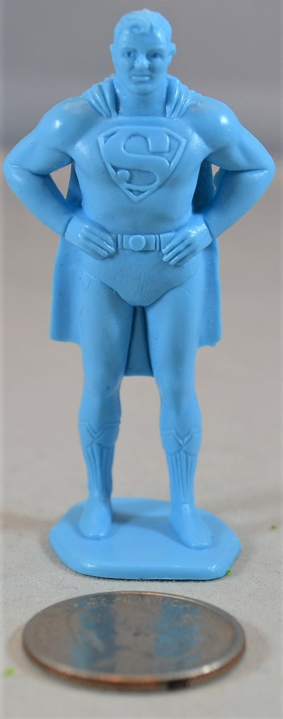 Marx Superman Superhero Comic Book Figure Light Blue