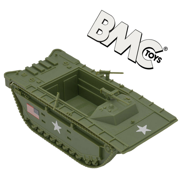 BMC WWII USMC Amtrac LVT Amphibious Vehicle Toy Soldier Green