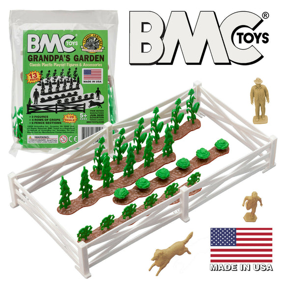 BMC Classic Marx Grandpa's Garden Crop Rows Ranch Fence Farm Characters Set