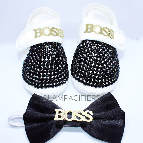 Little Boss Shoes with Matching Bow Tie