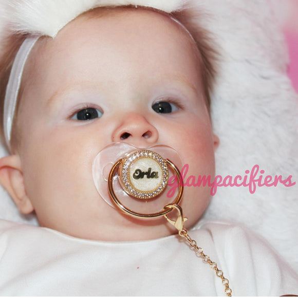 Personalized Baby Name Glam Pacifier