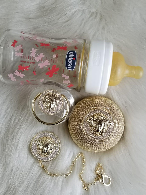 3 Piece Versace Style Baby Gift Set