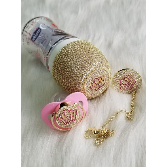 Crown Glam Set in Gold&Pink