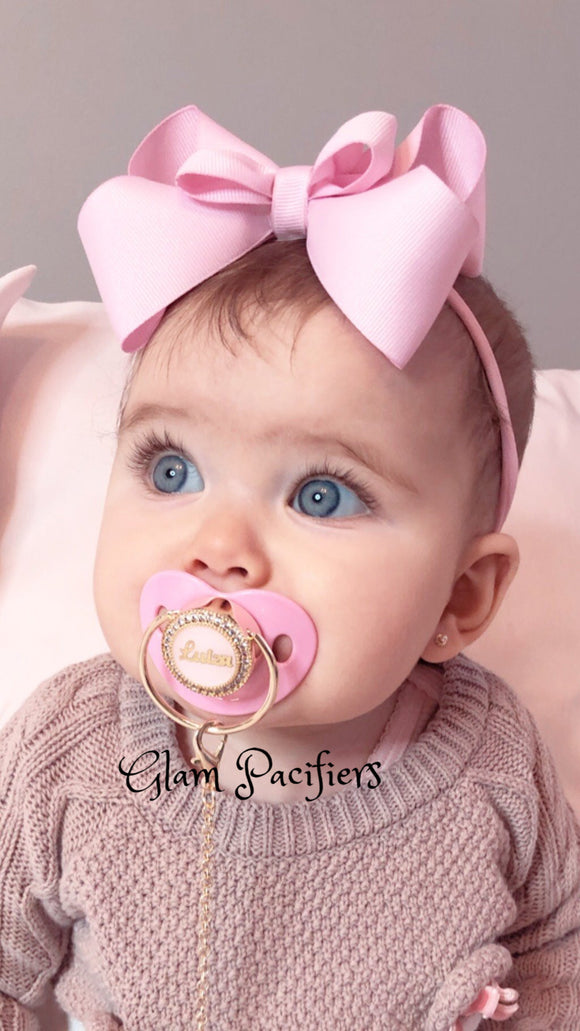 Personalized Baby Pink  Custom Pacifier