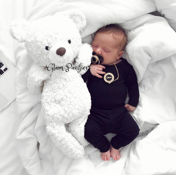 Black Gold Fashion Baby Pacifier