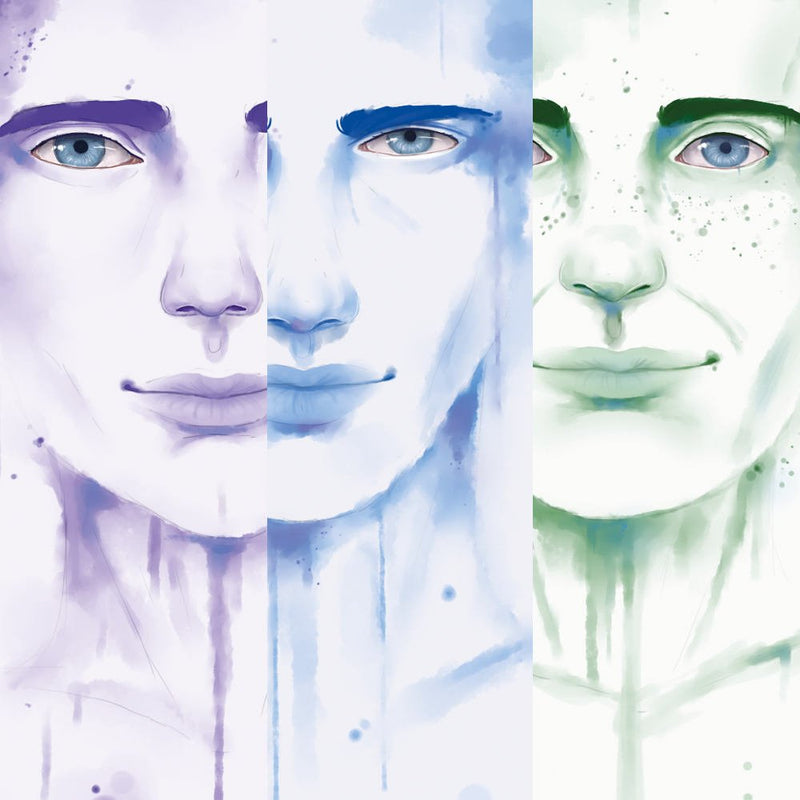 The Waterpaint Male Faces Collection