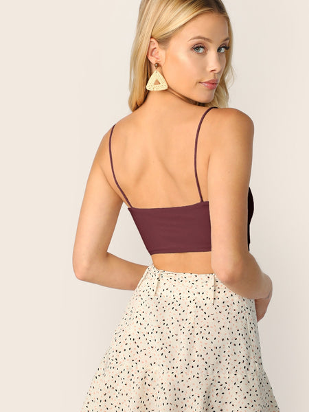 Solid Crop Cami Top - Luma Lyfe