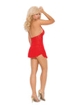 Lace halter mini dress - Red