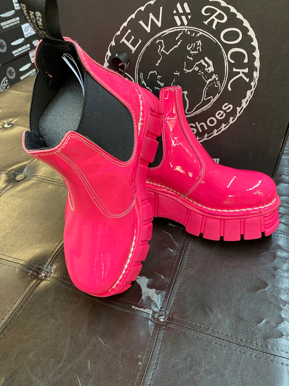 New Rock Ankle Boots - Pink