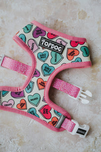 Reversible Dog Harness - LOVE BUG
