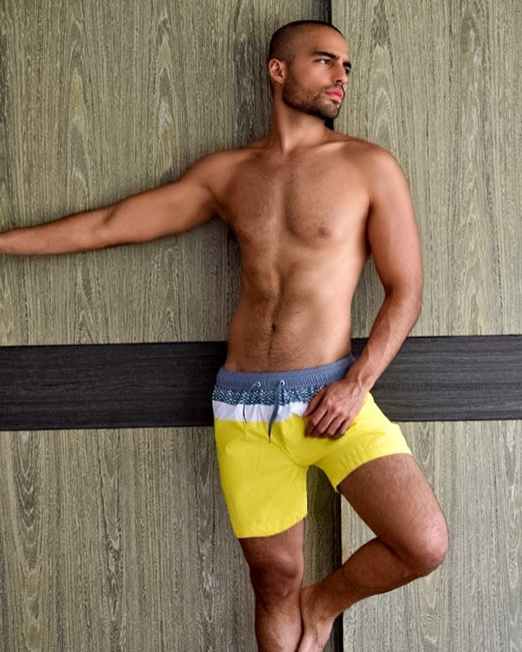 New BATTYSTA Reef Yellow Short Shorts