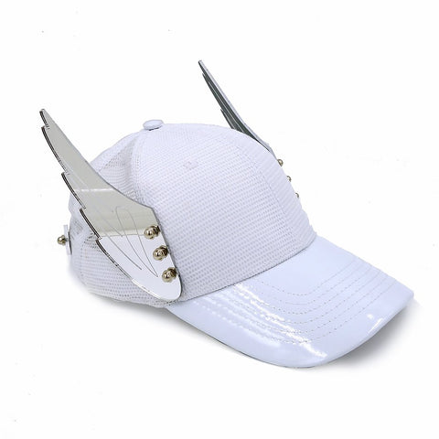 Mirror Wings White Hat | ACCESSORIES | STRAPPING BOY NYC | OUTFAIR