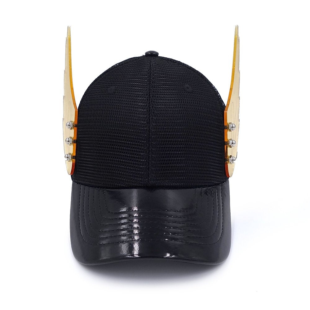 Gold Mirror Wings Black Hat