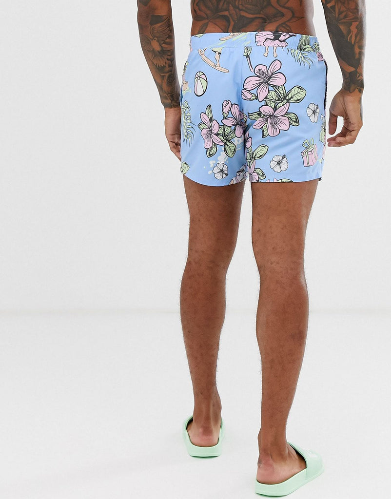 Miami Beach Santa swim shorts