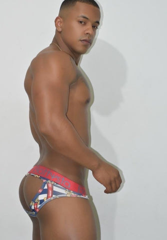 Blue Red Marine Briefs Jocks | UNDERWEAR | BATTYSTA | OUTFAIR