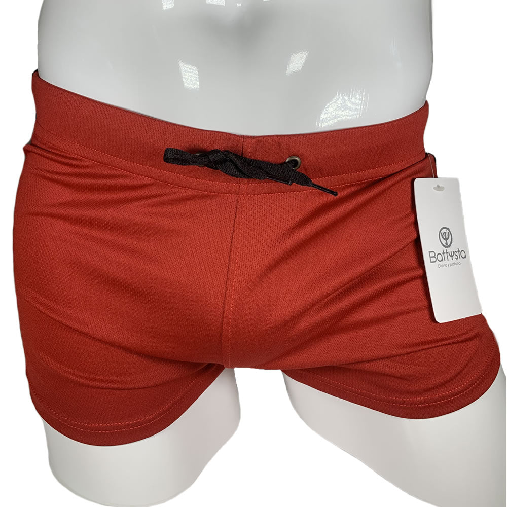 Red and Black Commando Stretch Short Shorts