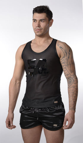 Black 54 Mesh Tank Top |  TANK TOP | INDECENT EXPOSURE | OUTFAIR