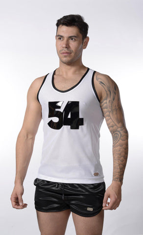 White 54 Mesh Tank Top |  TANK TOP | INDECENT EXPOSURE | OUTFAIR