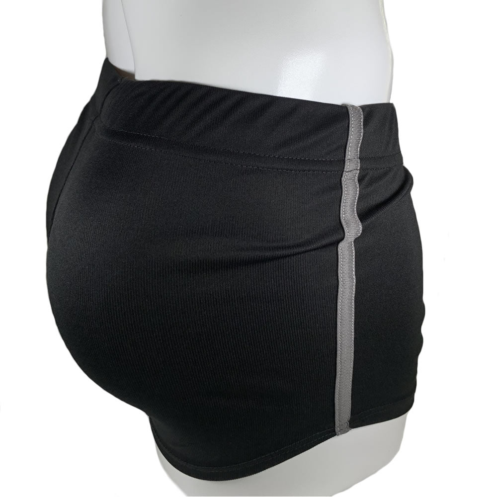 Black & Grey Stretch Short Shorts