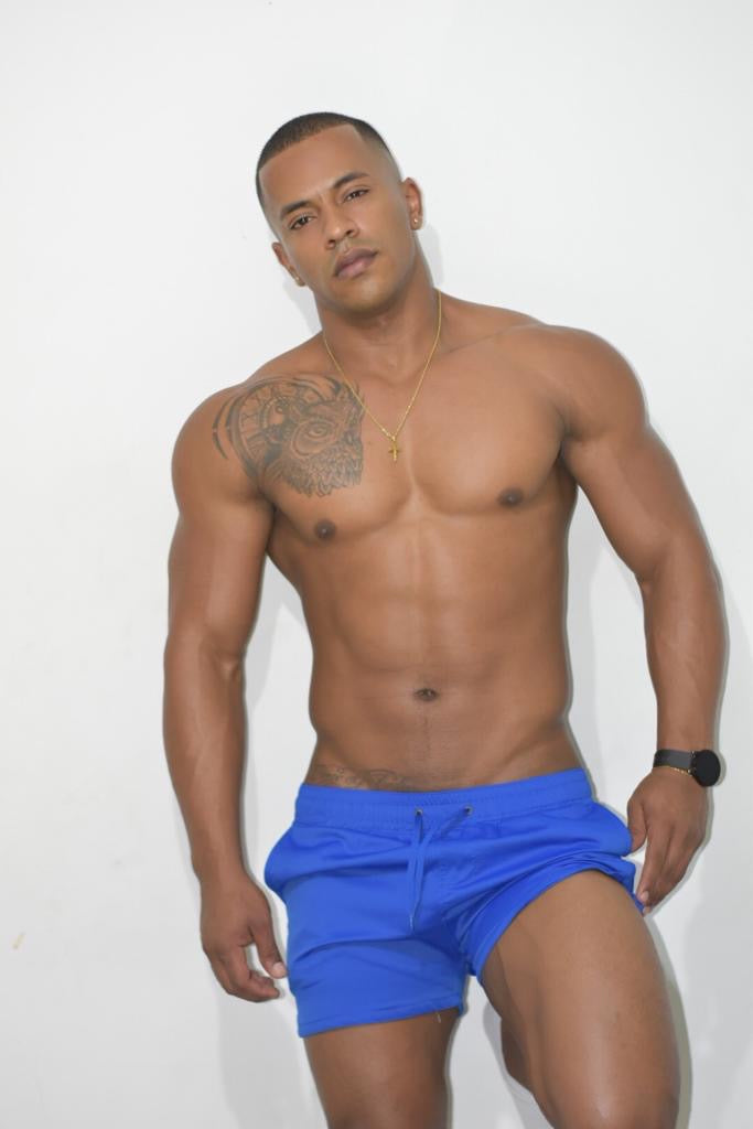 Royal Blue Silky Swim Shorts