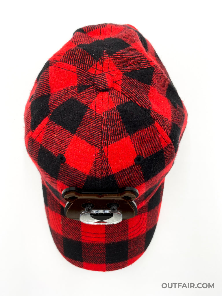 Red Plaid Bear Hat