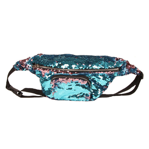 OUTFAIR Sequins Fanny Packs |  ACCESSORIES | Turquoise Chloe | OUTFAIR